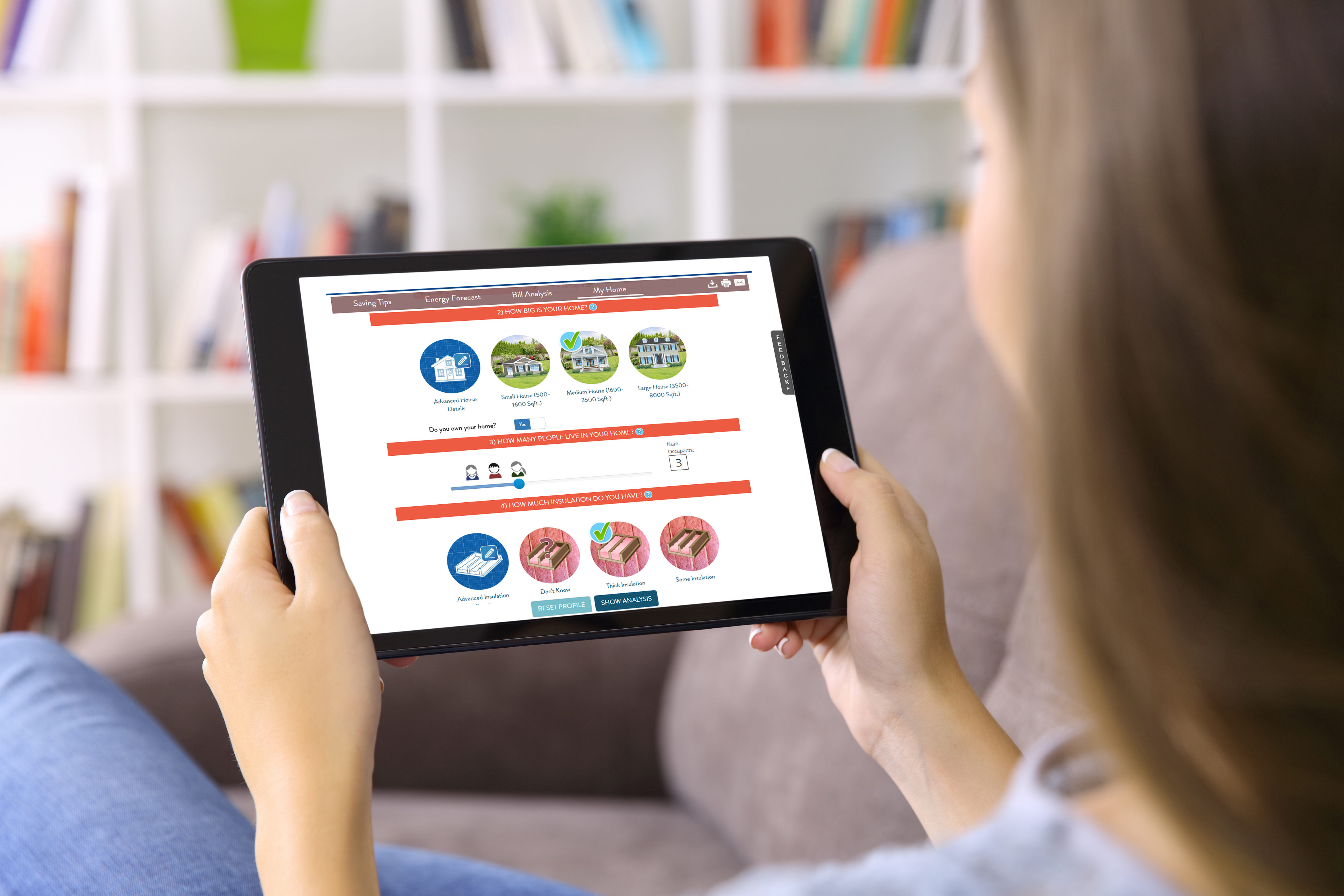 home energy advisor tablet